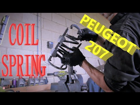 HOW TO: COIL SPRING change/replacement, front coil, PEUGEOT 207
