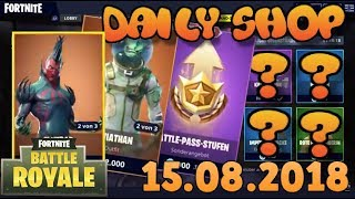 Fortnite Neuer Gegenstand Shop 15.08.2018 Fortnite ITEM SHOP Daily Shop August 15th New Skins
