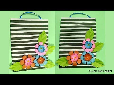 DIY Wall Hanging Paper Flower/Handmade Paper Flower/Black Hand Craft