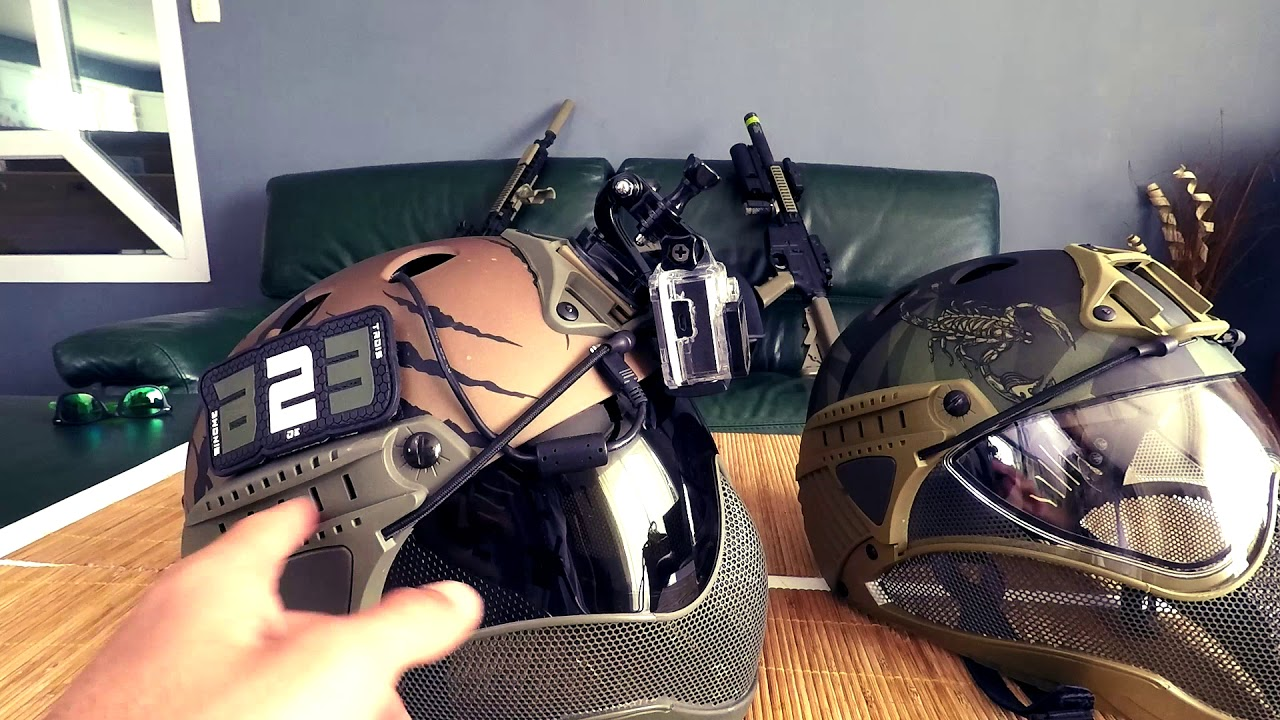 Review Casque Warq Fr Airsoft Youtube