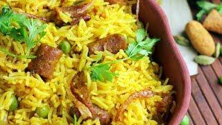 Gatta Pulao Recipe   Gatta Pulao at Home Cooking   Village Travel Food