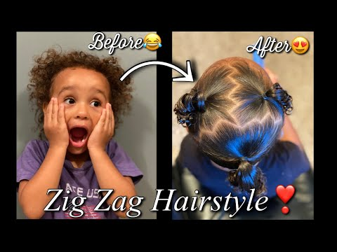 mixed-girl-hairstyles-||-toddler-curly-hairstyles-||-zig-zag-hairstyle-on-short-curl-hair