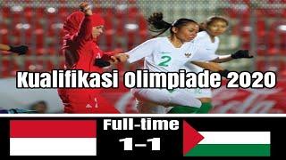 Download Video Indonesia vs Palestina (1-1) women's kualifikasi Olimpiade 2020 MP3 3GP MP4