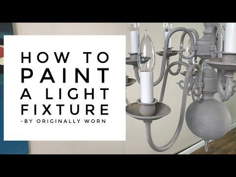 Update Old Light Fixtures With Chalk Paint