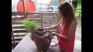 Chaz -- A Miniature Garden Art Using Broken Pottery At Sulu Garden, Miagao