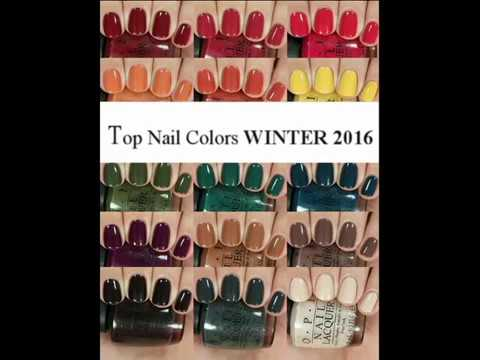 TOP Nail Colors Winter 2016 2017