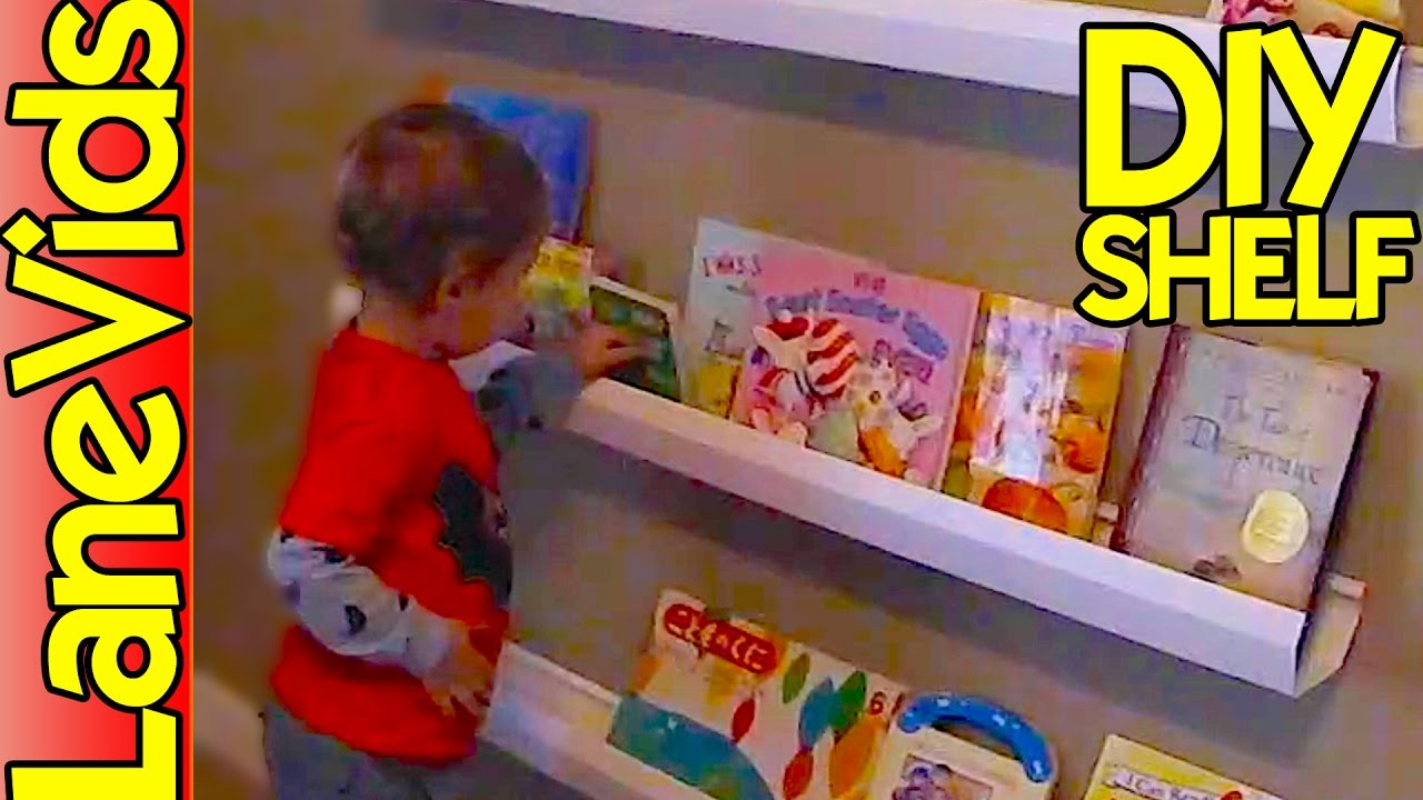 ⚒ DIY SHELF IDEAS 📚 | DIY Kids Bookshelf From Rain Gutters | LaneVids    YouTube