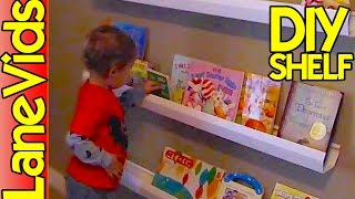 ⚒ DIY SHELF IDEAS 📚 | DIY Kids Bookshelf from Rain Gutters | LaneVids