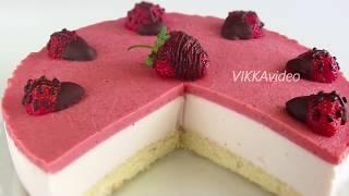 Клубничный йогуртовый торт! НЕЖНЫЙ ЛЕГКИЙ десерт