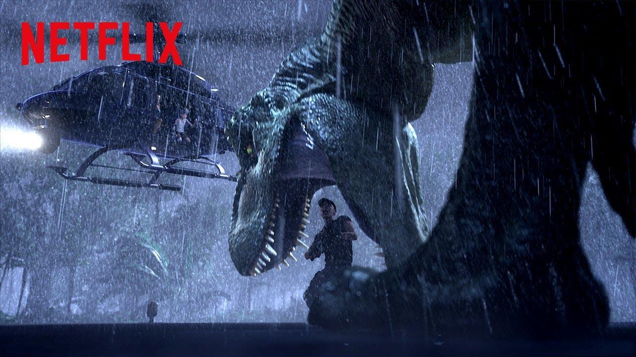 Download T-Rex Chopper Chase 🚁 Jurassic World Camp Cretaceous | Netflix Futures