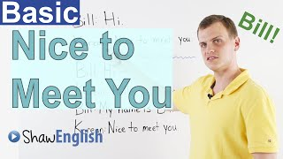 Learn English: Nice to Meet You