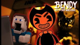 Bendy and the Ink Machine Jumpscare Chapter 1 Gameplay walkthrough hack Puppet Steve Pt 1