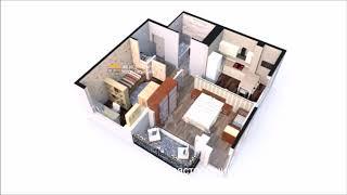 Продается квартира 50.56 кв.м. в ЖК Новая Заря Сочи, корпус 2, этаж 7