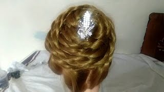 New simple easy judda hairstyle created by creative Poonam for any function