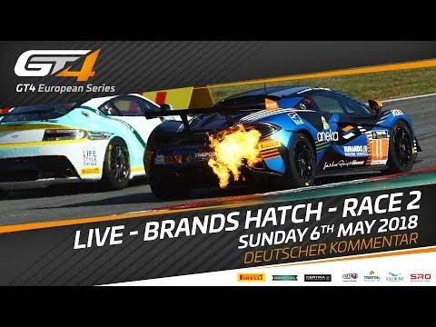 GT4 European Series - Brands Hatch - Race 2 - LIVE - GERMAN