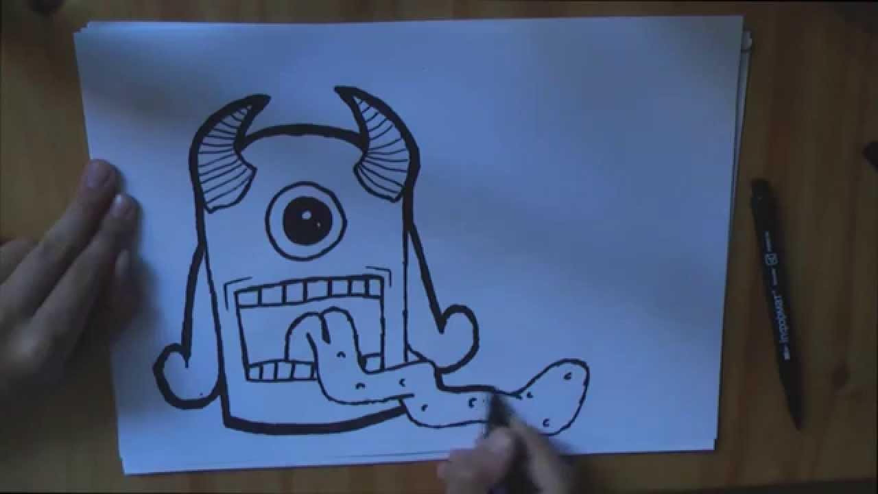 Graffiti Monster Monstr Youtube