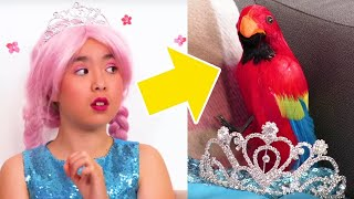 Evil Pirate Turns Princess Olivia Into A Parrot! | Kiddyzuzaa - Princesses In Real Life