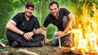 Conseguimos fazer fogo com pauzinhos! ft. Celso Cavallini
