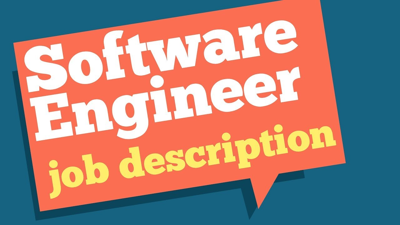 Software Engineer Job Description Software Engineer Role And Responsibilities Youtube