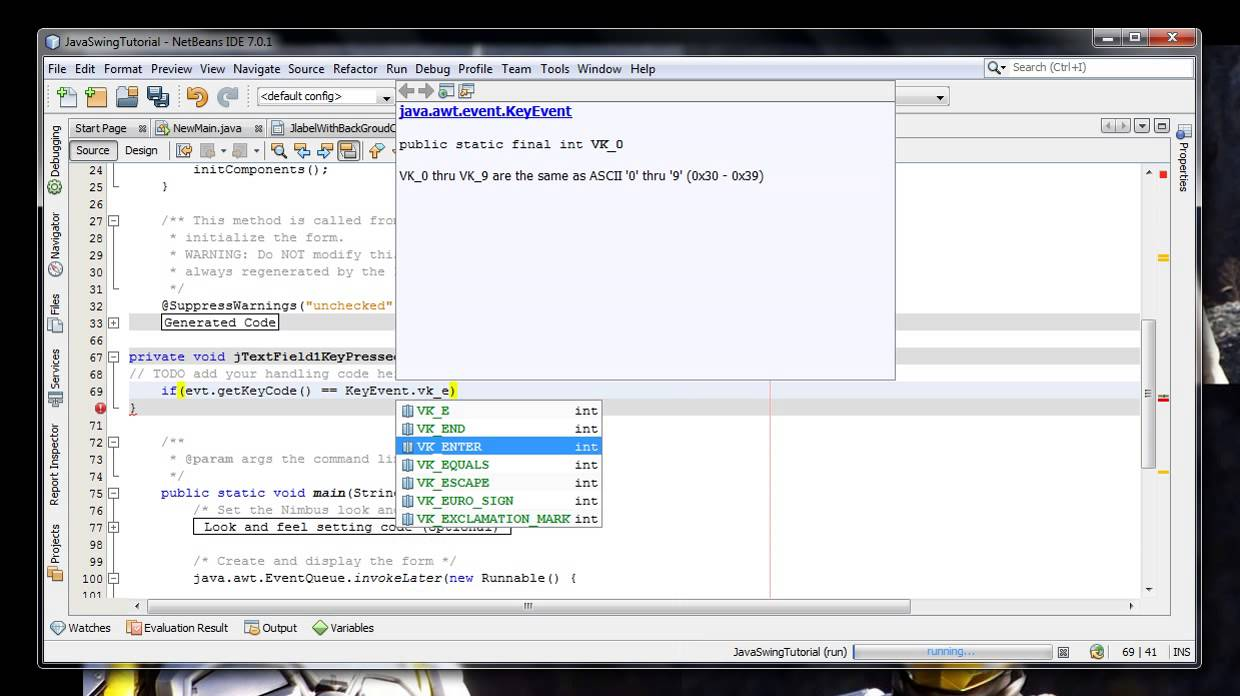 How to set jtextfield event active after the enter key is pressed how to set jtextfield event active after the enter key is pressed in java swing programing java swing tutorial baditri Image collections