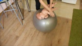 Упражнения на фитболе для грудничков от 0 до 3 месяцев. Часть 2.