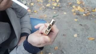 видео USB электроимпульсная зажигалка молния Tiger (работает без газа)