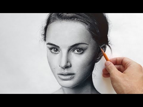 Натали Портман - портрет карандашом (Natalie Portman - drawing portrait)