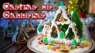 Casitas de Galletas Sin Horno Especial Navidad