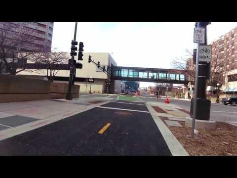 Capital City Bikeway - Downtown St Paul, MN - Kellogg Blvd. to 7th St. E. - February 19th, 2017