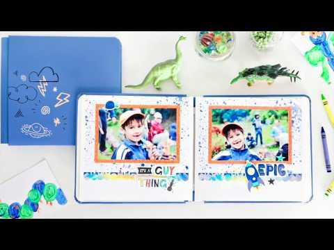 8x8 Vivid Blue Super Duper Boy Fast2Fab™ Album | Creative Memories Australia