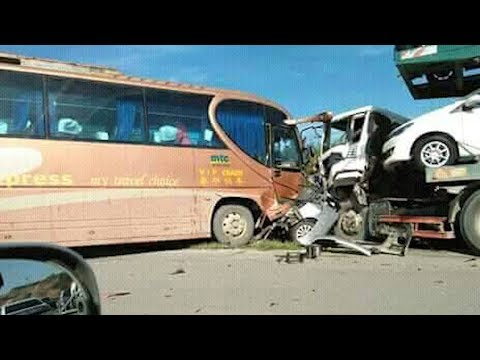 Five, including 2 children killed in Sibu four-vehicle crash