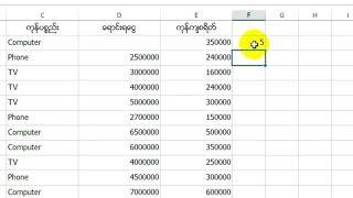 Excel သုံး၍ ကြန္ပ်ဴတာႏွင့္ စာရင္းမ်ားတြက္နည္း ၉ 720p