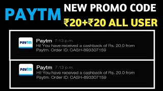 Paytm New Promo Code Free Rs20+20 For All User||July 2018