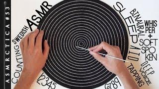 ASMR Guess how many dots! Counting in Swedish Pt 1 | Deep voice Binaural Sleep Aid