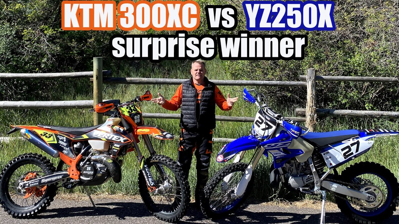 KTM 300XC vs Yamaha YZ250X on the Trails #KTM300XC #YamahaYZ250X #2-Stroke