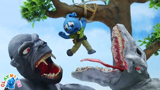 Tiny is The Beauty Who Defeated The Kong Beast - Tiny's Animal Stop Motion Animation Cartoons