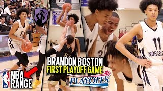 Brandon Boston & Norcross PIPE UP In First Round State Playoff Game!! BJ Pulling From NBA RANGE!!!