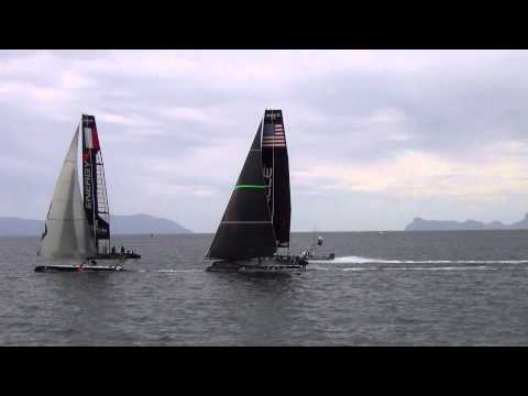 America's Cup World Series Naples 2013 - Final Fleet Race AC45 (21/04/2013) FULL HD