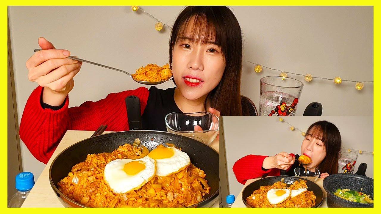 참치김치볶음밥 꼬꼬면 먹방 (Tuna Kimchi Fried Rice Cork Noodles ,ツナキムチチャーハン。 ココ麺モッパン ,ツナキムチチャーハン。 ココ麺モッパン)