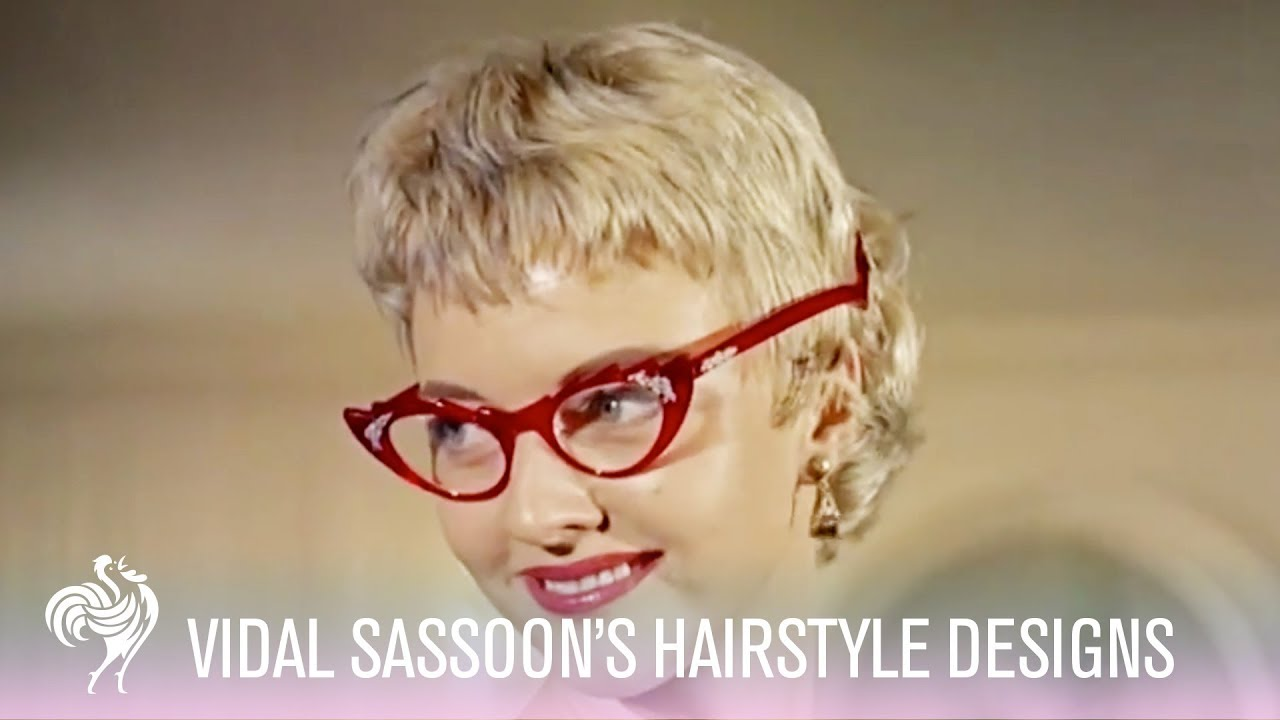 Vidal Sasson's Hairstyle Designs! (1955) | Vintage Fashion - YouTube