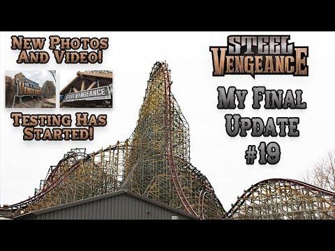 Steel Vengeance Final Construction Update #19. New Photos & Video. Fork Contest Update & Tony Clark.