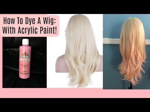 How to dye a cosplay wig : With Acrylic Paint!