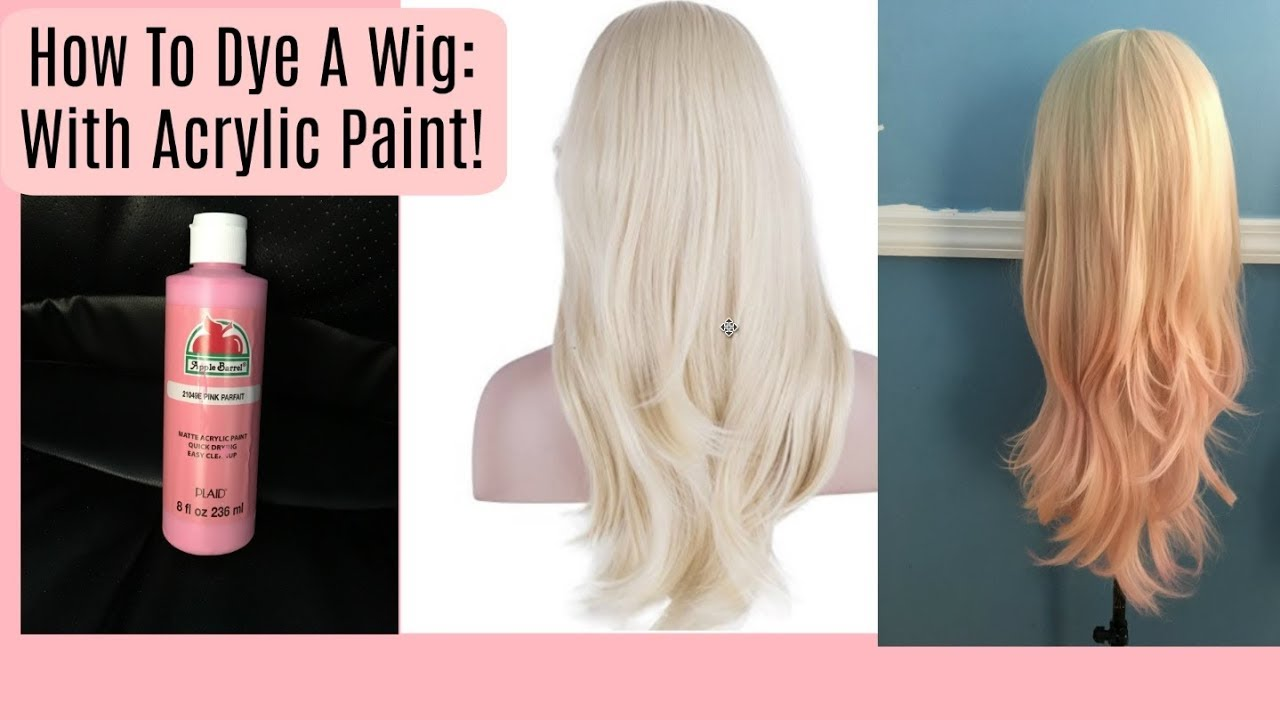 How To Dye A Wig Using Acrylic Paint With Pictures Wikihow Diy Hair Dye Diy Wig Wigs