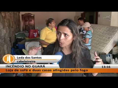 JL - Incêndio no Guará: loja de sofá e duas casas atingidas pelo fogo