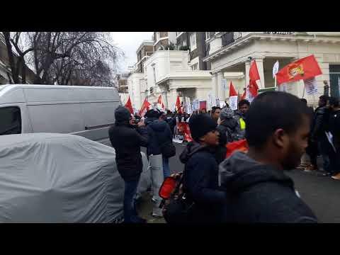 The Tgte diaspora protest and rally against priyanka pernando in london