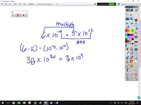Working with numbers in Scientfic and Standard Notation