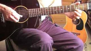 Fingerpicking Blues Lesson - Lonnie Johnson's signature licks - Free TAB