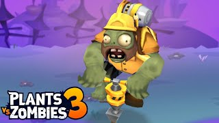 Plants vs. Zombies 3 - Gameplay Walkthrough Part 31 - Jackhammer Zombie (Floor 33 Last Level)