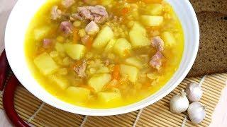 Гороховый суп с копченостями Очень аппетитно и сытно