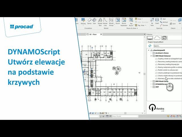 DYNAMOScript - Utwórz elewacje na podstawie krzywych